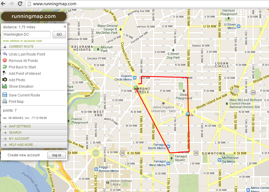 Running Map Finding My Strong - Map your distance
